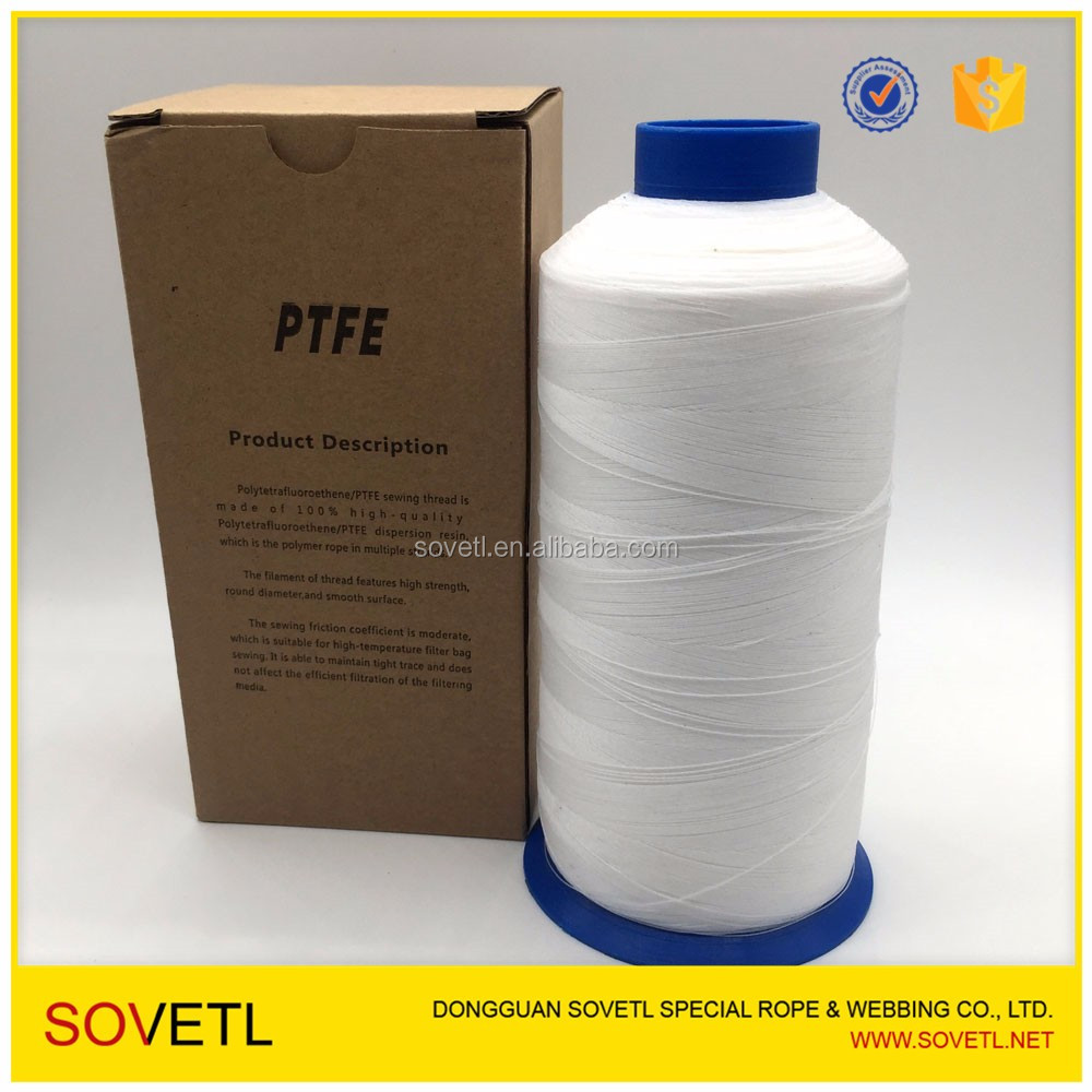 High temperature resistance low shrinkage ptfe teflon sewing thread