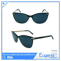 2016 cheap fashionable free samples cat eye retro sunglasses