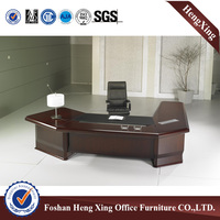 Luxury solid wood L shape designs boss executive desk (HX-NT3132)
