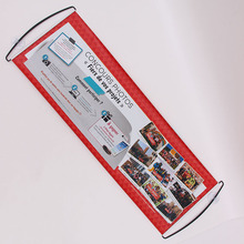 Custom Printed Hand Held Scrolling Banner / roll up banner for advertising