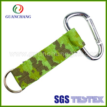 2016 new arrival hot sale carabiner hook multi-color polyester jacquard short lanyard strap for keychain for promotion