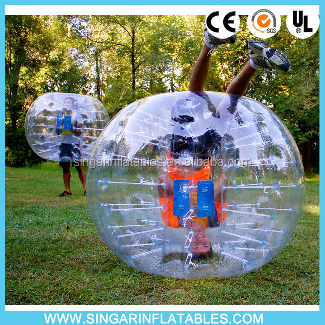 2016 latest Top Quality bumper ball soccer bubble, bubble soccer TPU, bubble ball