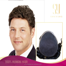 Men's Hair Short Full Wig Wigs Hairpiece Toupee 100% Real 8A Natural Human Hair