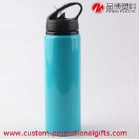 bottle large capacity 750ml, aluminium sports bottle with straw, water drinking bottle