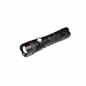 High power mini zoom rechargeable diving torch tactical led flashlight