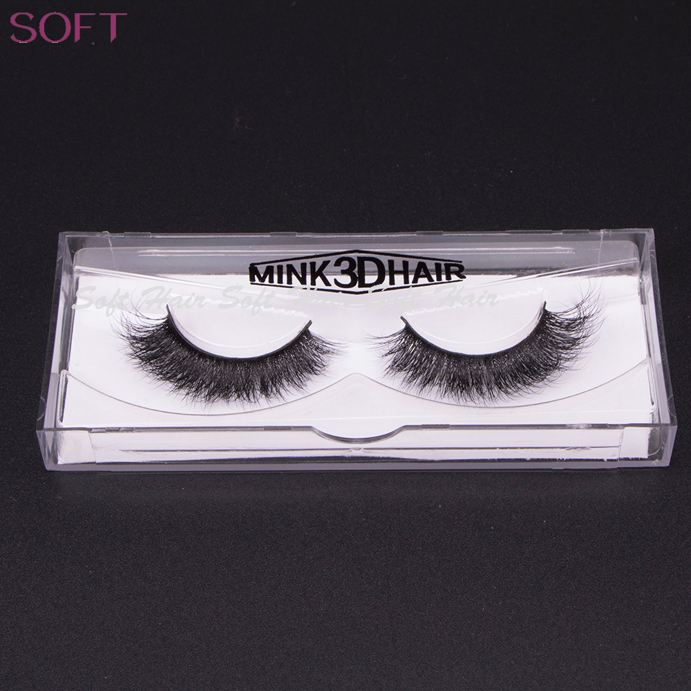 Soft 1 Pair 3D from brazilian Natural Long Fake Mink Full Strip Eye Lashes False Eyelash A1-A19 have in stock and give <strong>u</strong> 2 pair