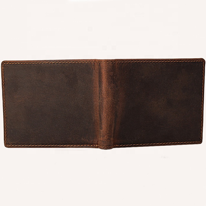 Short Money Clip Wallet,Cowhide Leather Bifold Purse,Best Credit Card Holder