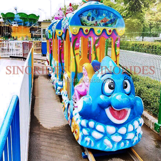 theme park  kids electric mini cartoon track train