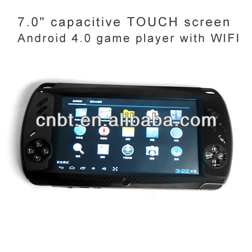 Hot sale 7.0 inch portable download game for mp5 touch with android 4.0 OS