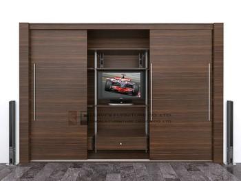 Wardrobe Designs Tv Sets : Wall Mounted Wardrobe With Tv Cabinet Buy