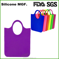 FDA & LFGB approved waterproof candy tote bag silicone shopping bag