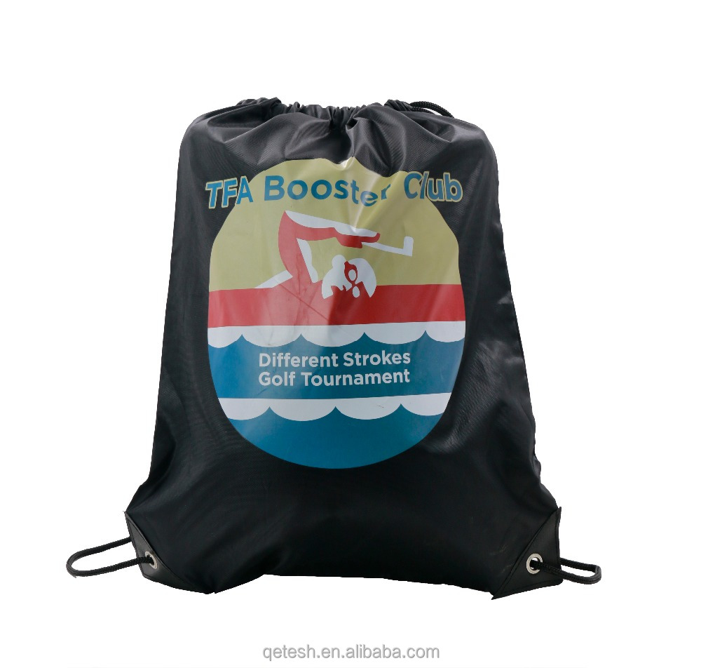 Custom Gym Bag 100% Polyester Pull String Drawstring Backpack