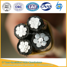 0.6/1kV XLPE Insulated abc aerial bundle aluminium cables with aac aaac acsr bare conductor