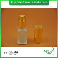 Electronic cigarette 30ML square glass spray perfume bottle/2 oz glass spray bottles with gloden aluminium cap