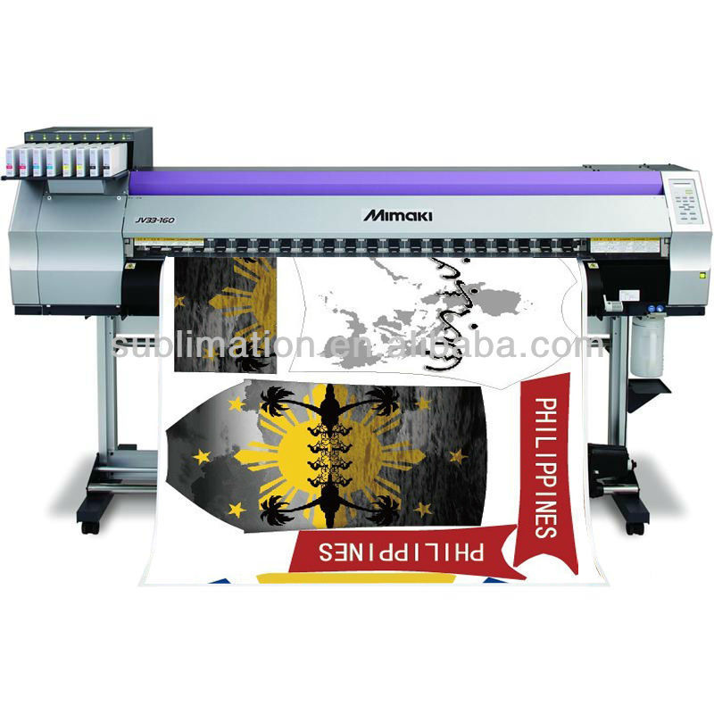 Mimaki JV33 sublimation printer for sportswear and sportswear