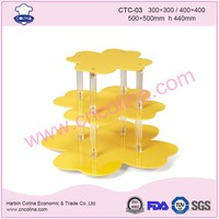 Elegant Colorful Acrylic Cake stand Chocolate bread dessert Display tool