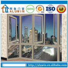 Customized Toughened glass aluminum french casement window