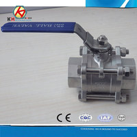 Stainless Steel 3 Pieces Ball Valve