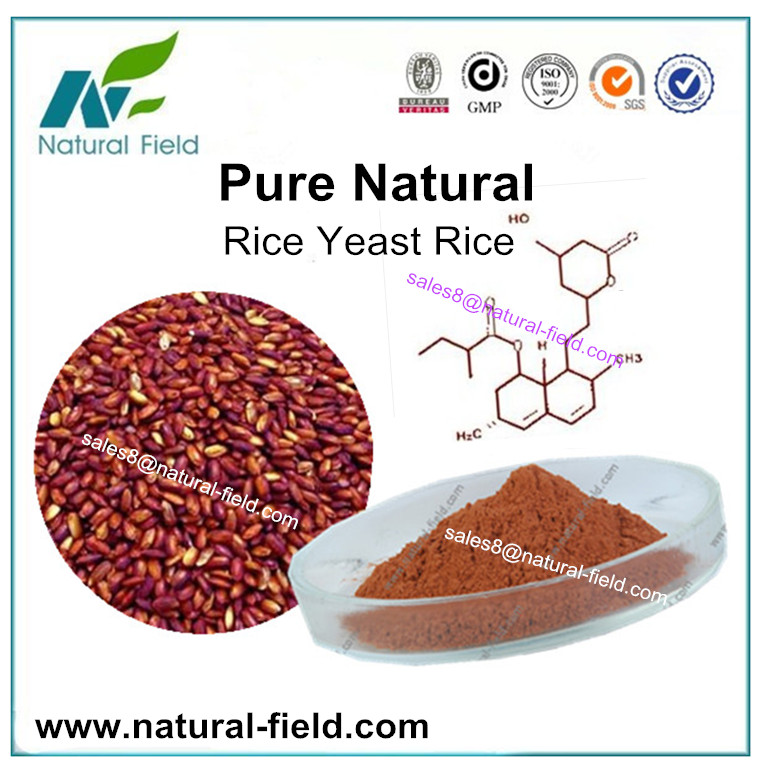 Pure nature made red yeast rice extract 0.2%-3.0%