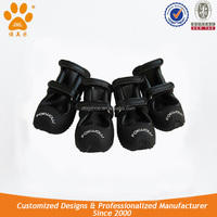 JML Black PU Leather and Rubber Dog Boots for Cold Weather Dog Rain Boot