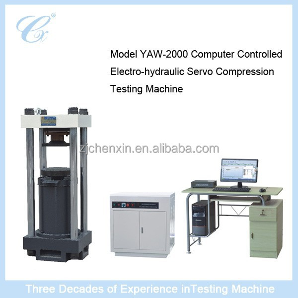 Model YAW-2000 Computer Controlled Electro-hydraulic Servo Compression Testing Machine