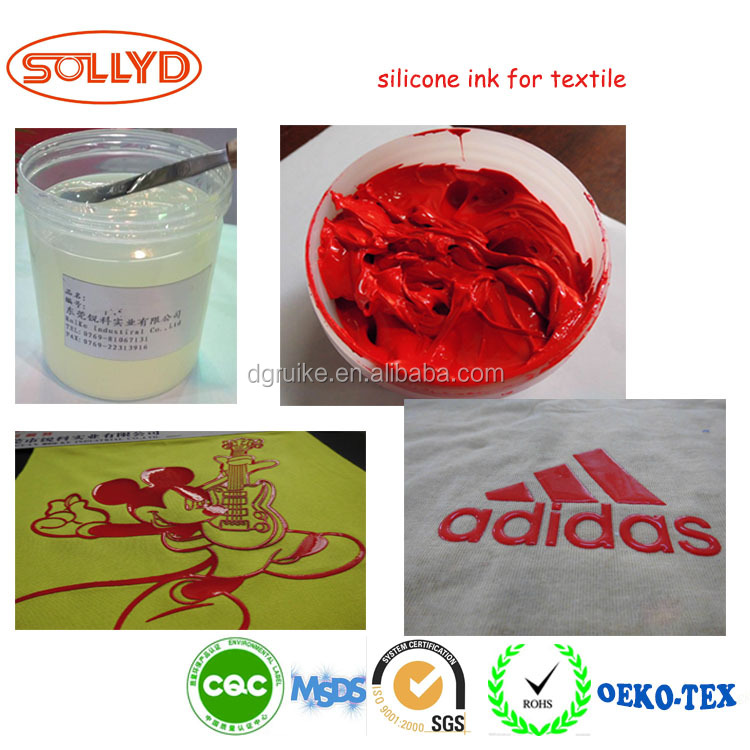 Silicone Pigmentable Screen Printing Textile Ink on Cotton and Polyester