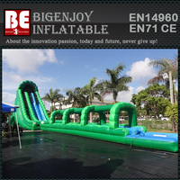 Commercial giant kids and adults inflatable long water slide