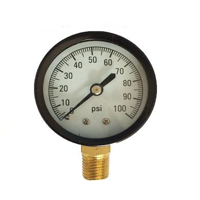 "2"" 50MM Steel Case Bottom Mounting 0-100PSI Manometer Pressure Gauge"