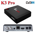 OEM highly supported S912 dvb s2 combo box octa core android 6.0 dual wifi k3 pro dvb s2 tv box