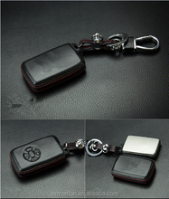 Romote Auto key leather car key cover for Toyota with retail package
