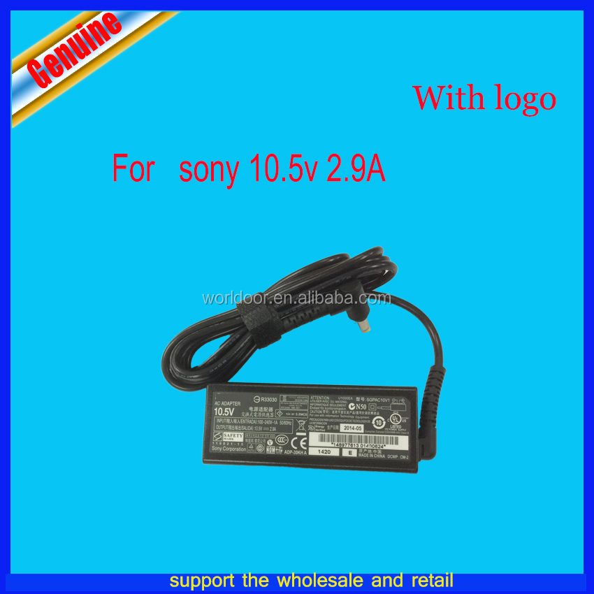 30W original For Sony 10.5V 2.9A Power Adapter Universal Notebook Laptop AC Charger 4.8*1.7MM SGPAC10V1