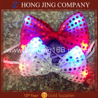 Christmas flashing bow tie