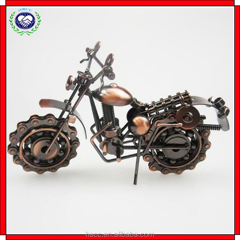 Factory supply metal craft household office decoration 3D motorcycle model for gift