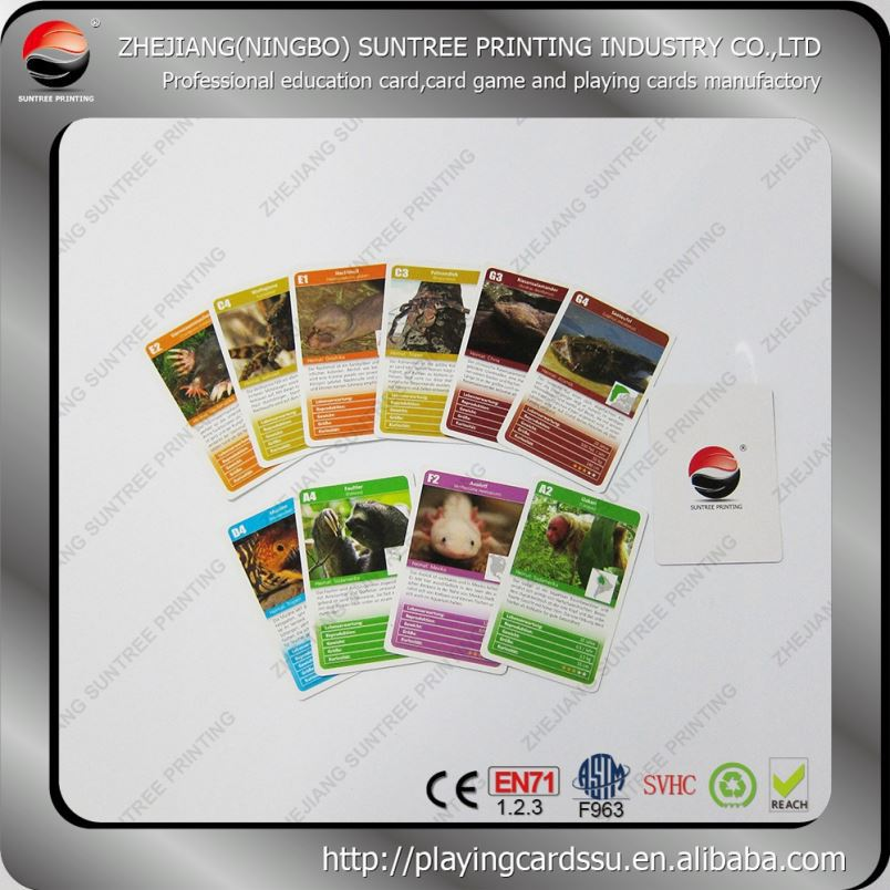 Super quality factory price Trading Card Game Printing