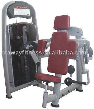 seated biceps curl fitness equipment