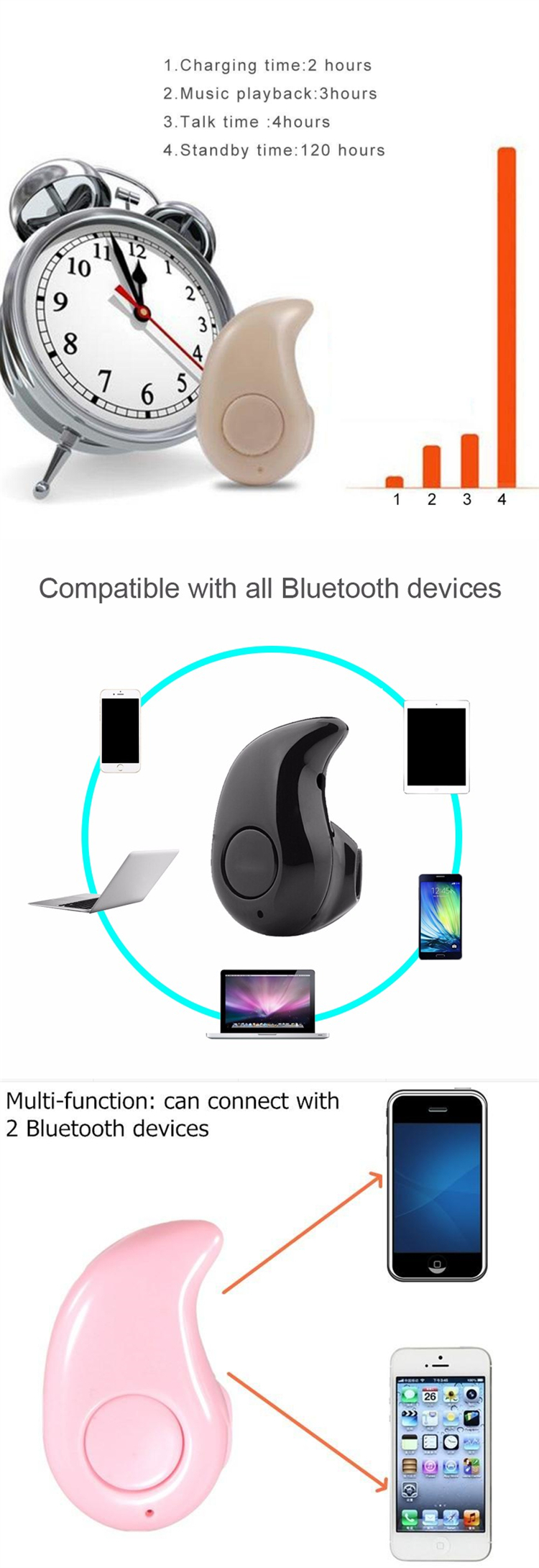 bluetooth headphone without mic super mini bluetooth headset