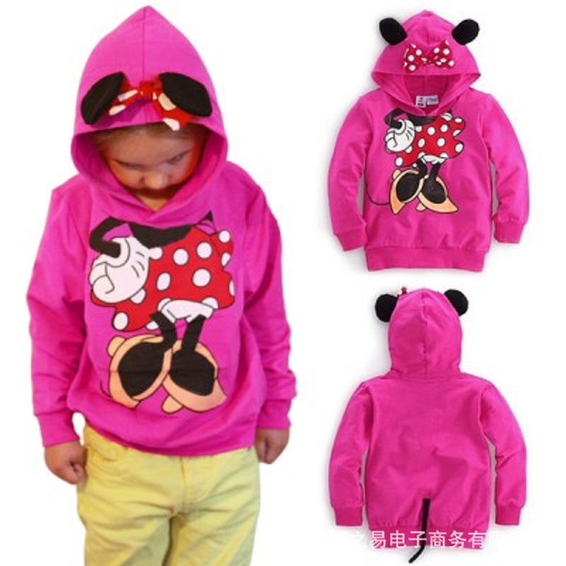<strong>c026</strong> 2017 spring or autumn Coat Wholesale Boutique Clothing Cartoon Children Girl Hoodies Coat
