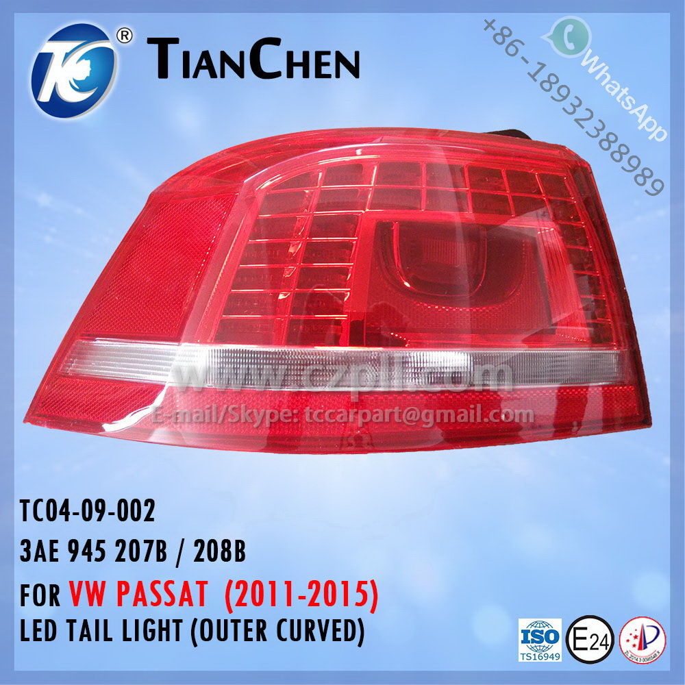 LED TAIL LIGHT for PASSAT B7L B7 2011 - 2015 LED / OUTER 3AE 945 207 B / 208 B - 3AE 945 208 B / 207 - 3AE945207 - 3AE945208 -
