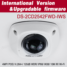 Hikvision 4MP WDR mini wifi ip Dome Network Camera with POE DS-2CD2542FWD-IWS