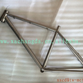Hot Sale Titanium BMX bicycle frame with laser logo on down tube and post mount brake custom chinese titanium BMX Bike Frame
