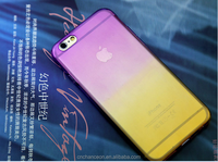New style two stone transparent gradient protective phone case cover for iphone 6 6plus, CO-PC-3030A