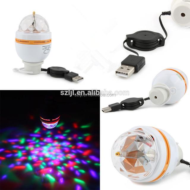 5V Disco KTV Bar Stage Club Party lighting led rotating lamp lights for kids