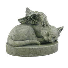 Decorative Souvenir Cat Angel Pet Memorial Stone