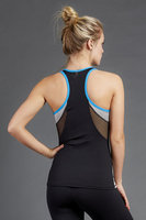 Fitness clothing racer back design colorblock style fitness and yoga wear