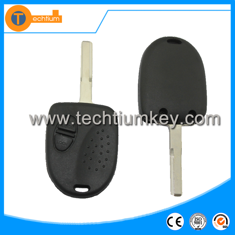 high quality 2 button remote key shell with hu43 blade without logo for chevrolet spark sonic orlando aveo 2012