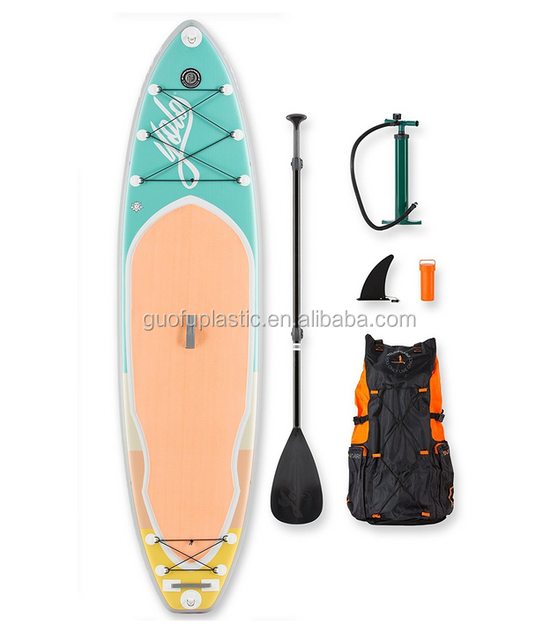300*75*15cm inflatable classic drop stitch and 0.65mm tarpaulin pvc made high duty cheap surf sup paddle board without printing