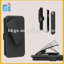 Slide Series Case Belt Clip Holster with Stand for iPhone 4G 4S 4 4GS BLACK
