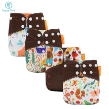 Manufacturers in China Happy Flute washable pocket Reusable baby diapers in bulk