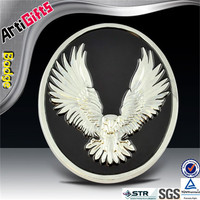 3D design metal eagle car emblem