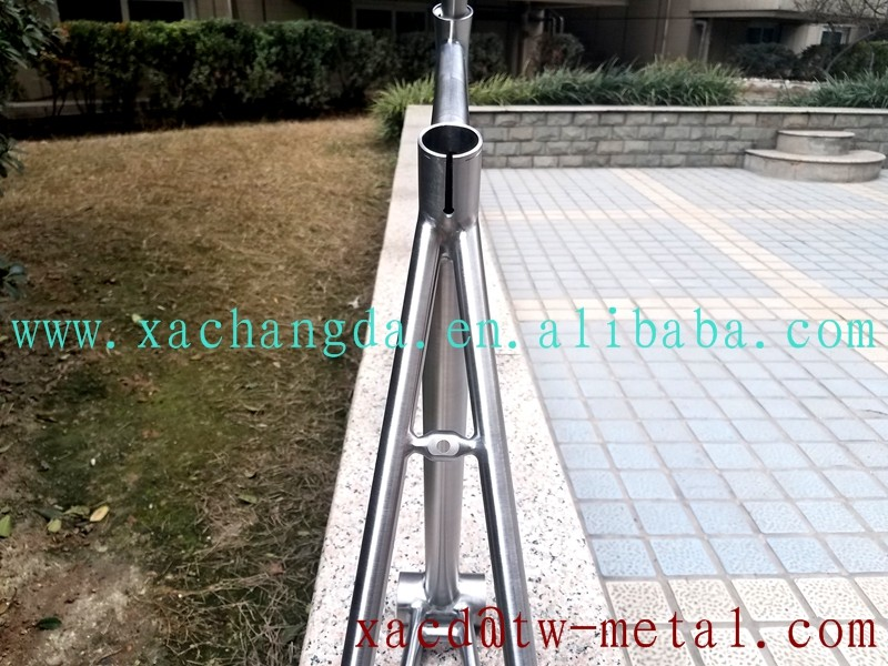 XACD Titanium road bicycle frame customize Ti road bicycle frame Integrated head tube